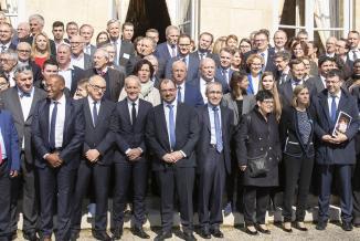 Jeudi 21 mars 2019, quatre territoires d'industrie « pilotes » de Bourgogne-Franche-Comté étaient invités à Matignon, par le Premier Ministre Edouard Philippe, pour présenter leurs savoir-faire - Photo DR