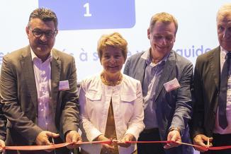 Inauguration de nouveaux bâtiments chez Faurecia à Bavans (25), mercredi 17 juillet 2019 - Crédit photos Région Bourgogne-Franche-Comté / David Cesbron