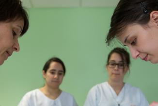 Une nouvelle formation d'aides-soignant.e.s est proposée en février 2020 par la Région Bourgogne-Franche-Comté - Photo DR