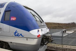 La ligne ferroviaire Belfort-Delle (90) a été rouverte en 2018 - Photo David Cesbron Région Bourgogne-Franche-Comté