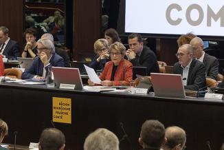 Assemblée plénière du Conseil régional de Bourgogne-Franche-Comté,  du 11 au 13 décembre 2019 à Dijon - Crédit photo David Cesbron