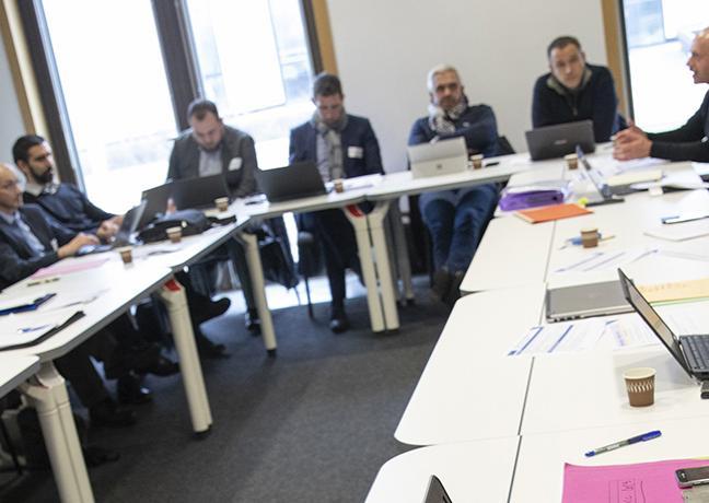 Réunion de 600 acteurs du monde économique, associatif et des collectivités de  Bourgogne-Franche-Comté pour élaborer la Stratégie de cohérence régionale d'aménagement numérique (SCORAN), du 22 au 30 janvier 2019 à Dijon (21) - Crédit David Cesbron