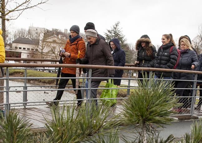 Visite de l'éco-quartier des Rives du Bief à Longvic (21)mercredi 30 janvier 2019 - Crédit Région Bourgogne-Franche-Comté / David Cesbron