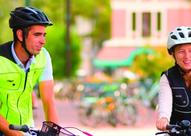 La société dijonnaise Hélite lance un gilet de sécurité équipé d'un airbag pour cyclistes - Photo DR