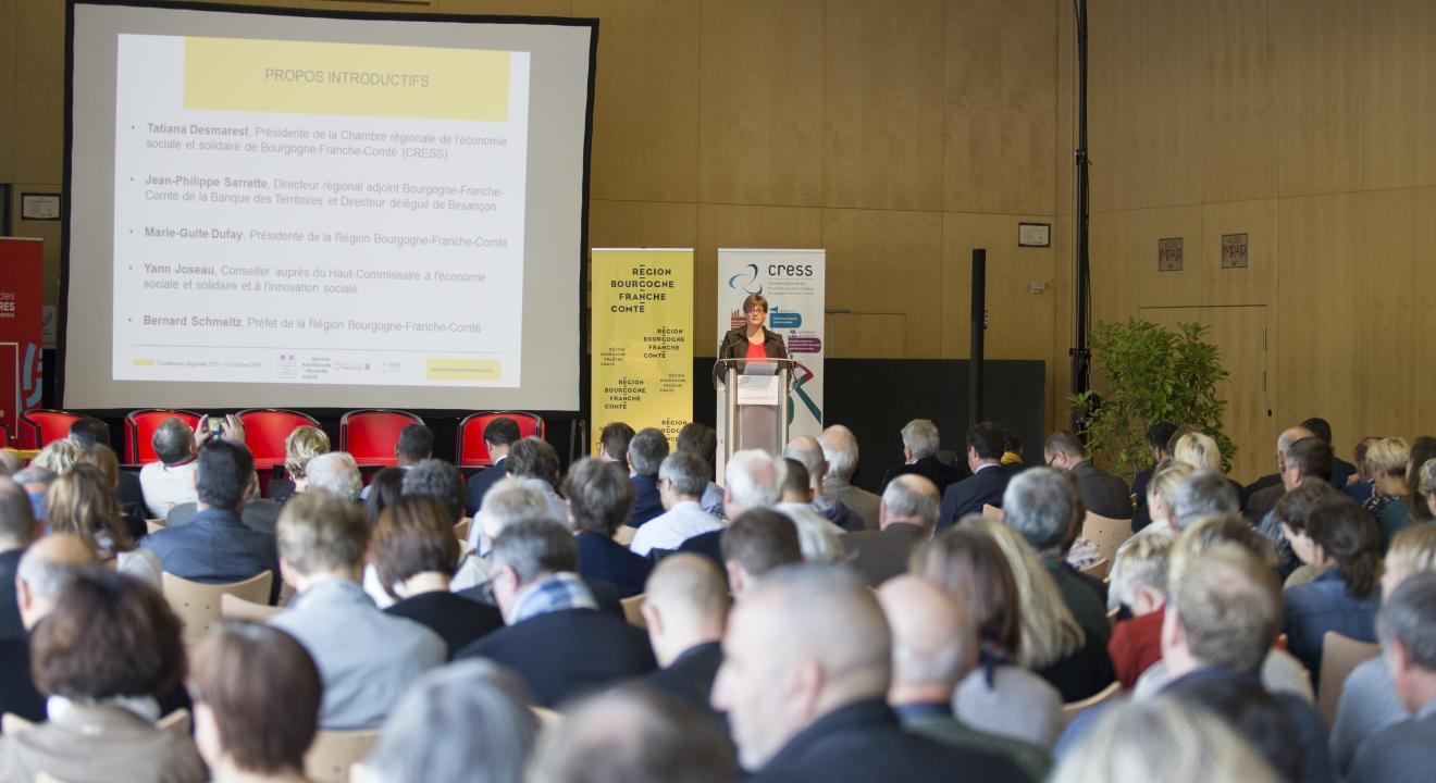 Conférence de l'ESS en Bourgogne-Franche-Comté, 17 octobre 2018 à Dole - Crédit Yves Petit